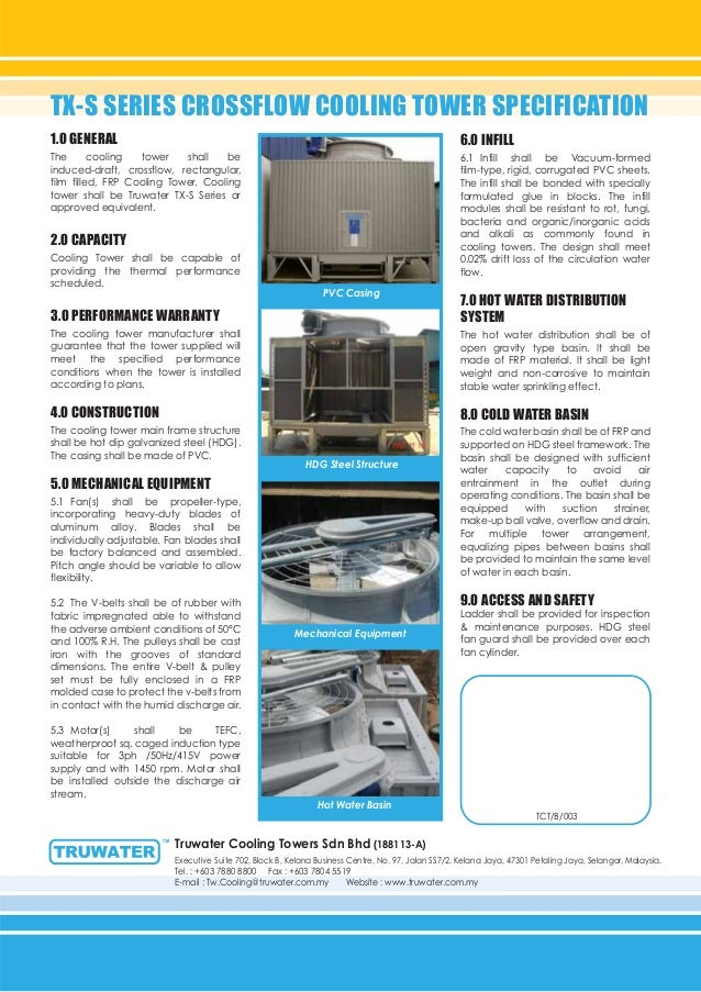Cooling Tower Modular Design Crossflow Type