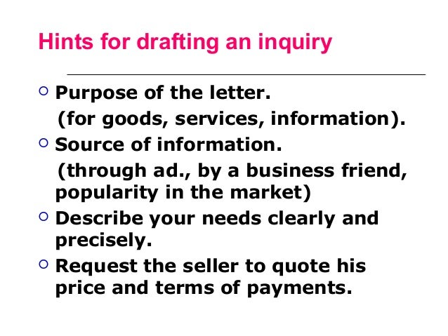 7. letter of inquiry