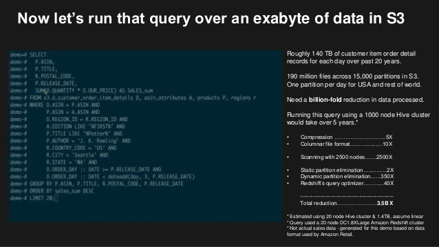 Intro to Amazon Redshift Spectrum: Quickly Query Exabytes of Data in …