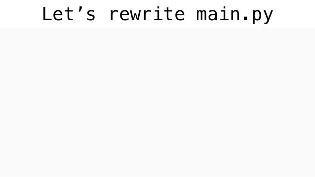 Let's rewrite main.py import bonobo def extract(): for i in range(42): yield i def transform(n): if n % 2: yield n