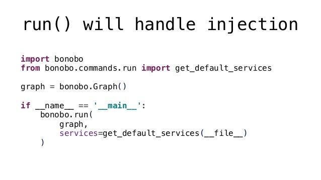 Files bonobo.FileReader( path: str, *, eol: str, encoding: str, ioformat, mode: str ) bonobo.FileWriter( path: str, *, eol...