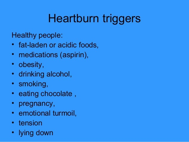 Symptomatic treatment of Heartburn