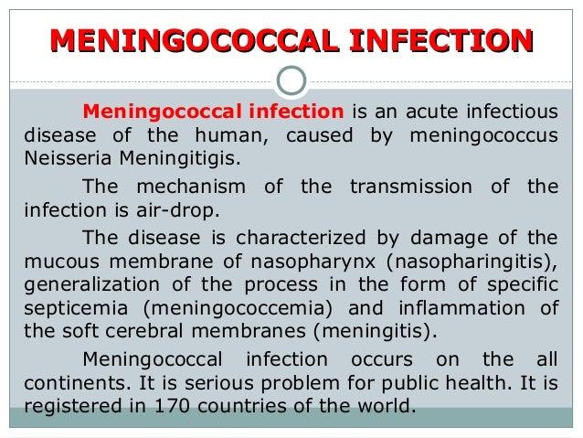 Meningococcal infection Slide 2