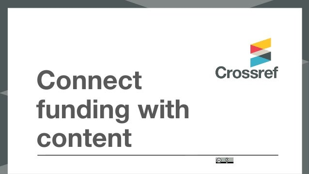 Connect funding with content