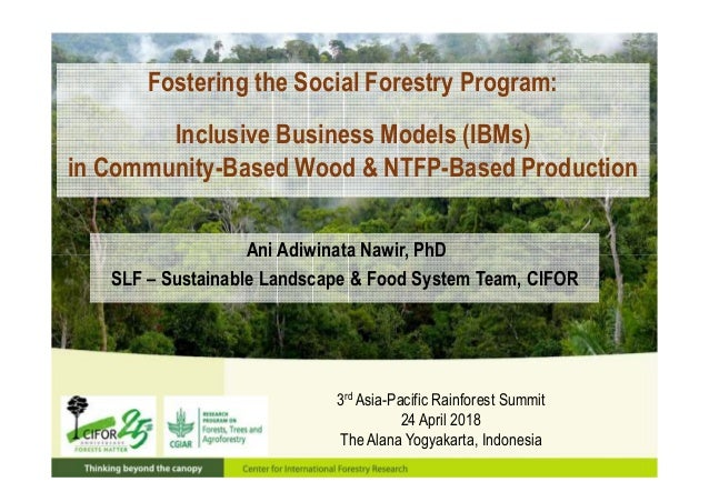 Fostering the Social Forestry Program: Inclusive Business Models (IBMs) in Community-Based Wood & NTFP-Based Production 3r...