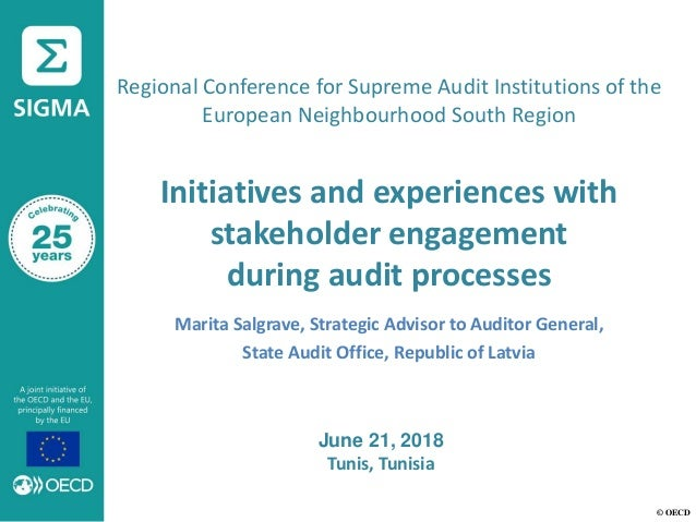 © OECD Regional Conference for Supreme Audit Institutions of the European Neighbourhood South Region Initiatives and exper...