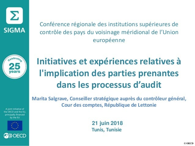 © OECD Conférence régionale des institutions supérieures de contrôle des pays du voisinage méridional de l'Union européenn...