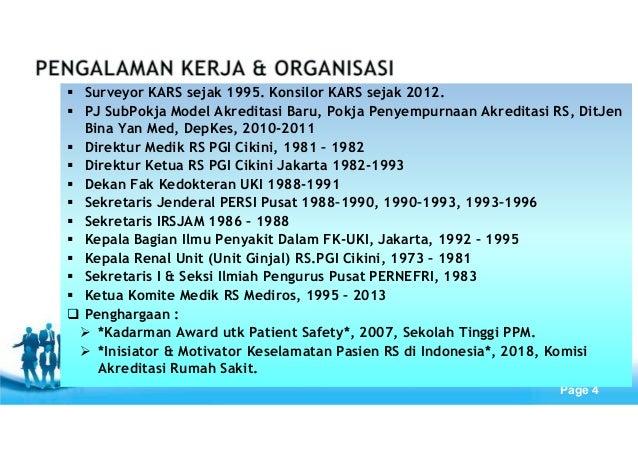 Free Powerpoint Templates Page 4 Surveyor KARS sejak 1995. Konsilor KARS sejak 2012. PJ SubPokja Model Akreditasi Baru, Po...