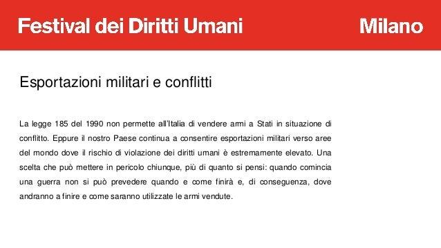 A Scuola di Diritti Umani: Guerra e Armi Slide 3