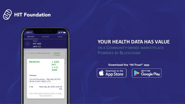 1 YOUR HEALTH DATA HAS VALUE ON A COMMUNITY-OWNED MARKETPLACE POWERED BY BLOCKCHAIN