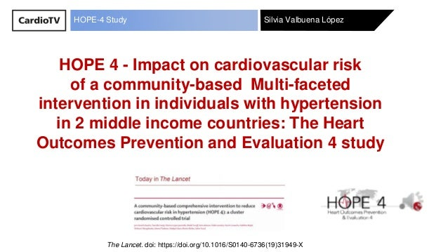 Silvia Valbuena LópezHOPE-4 Study HOPE 4 - Impact on cardiovascular risk of a community-based Multi-faceted intervention i...