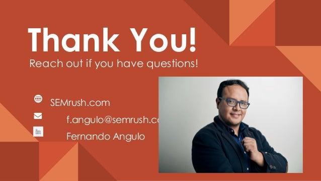 How to rank higher than No. 1 on Google - Fernando Angulo, SEMrush
