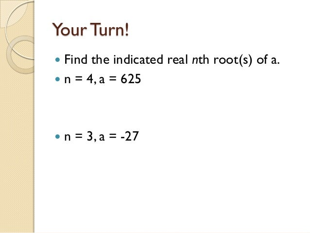 7 1 nth roots and rational exponents