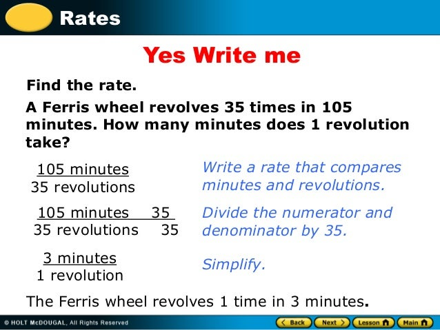 How do you write a unit rate