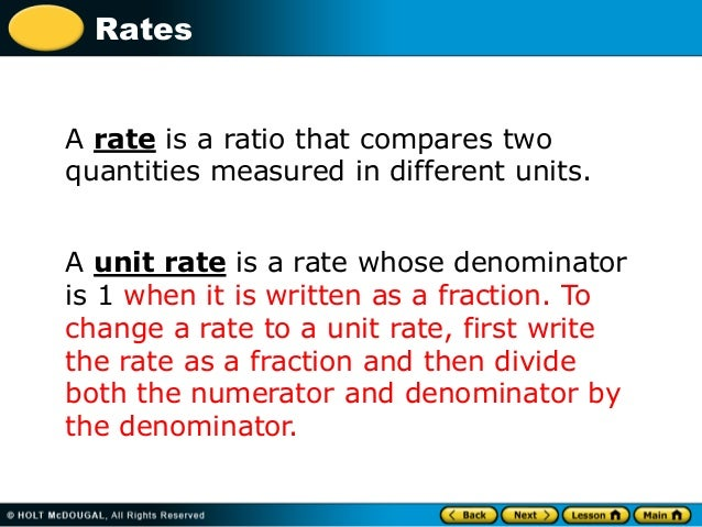 Unit rate example - YouTube