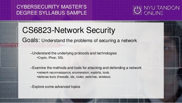 July 20 2016 Webcast For The Cybersecurity Ms At Nyu