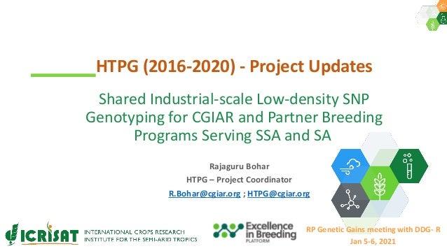 Rajaguru Bohar HTPG – Project Coordinator R.Bohar@cgiar.org ; HTPG@cgiar.org HTPG (2016-2020) - Project Updates RP Genetic...