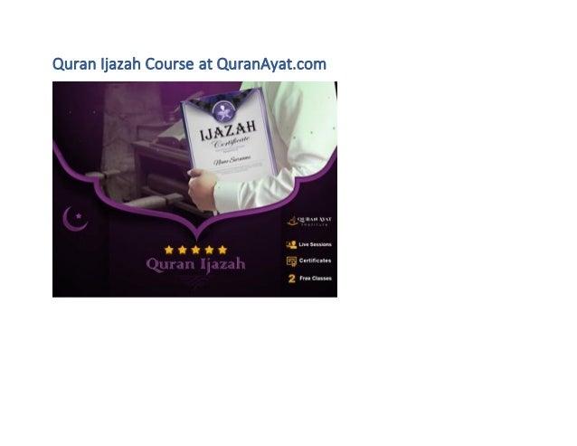 Quran Ijazah Course at QuranAyat.com