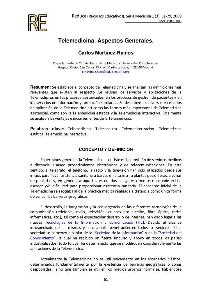 Reduca(RecursosEducativos).SerieMedicina1(1):61‐79,2009                                                          ...