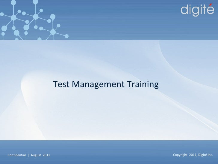 Test Management Training