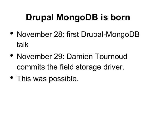 Webinar: MongoDB and Drupal 8 - Life without SQL
