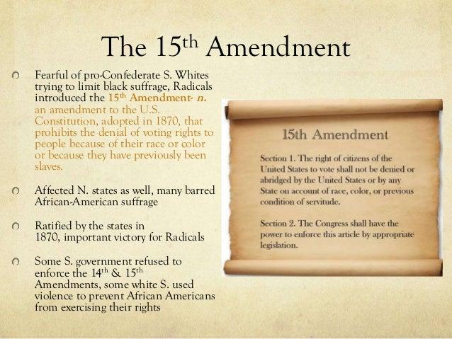 impact of the 15th amendment