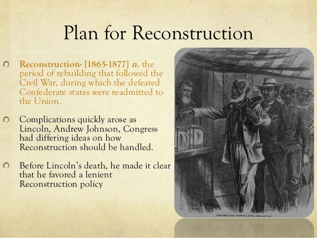reconstruction policies and problems A version of this article appears in print on , on page sr1 of the new york edition with the headline: why reconstruction matters order reprints.
