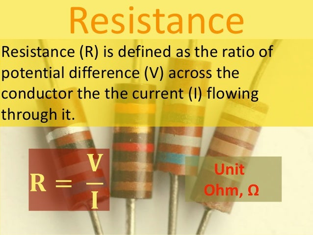relationship between current and potential difference unit