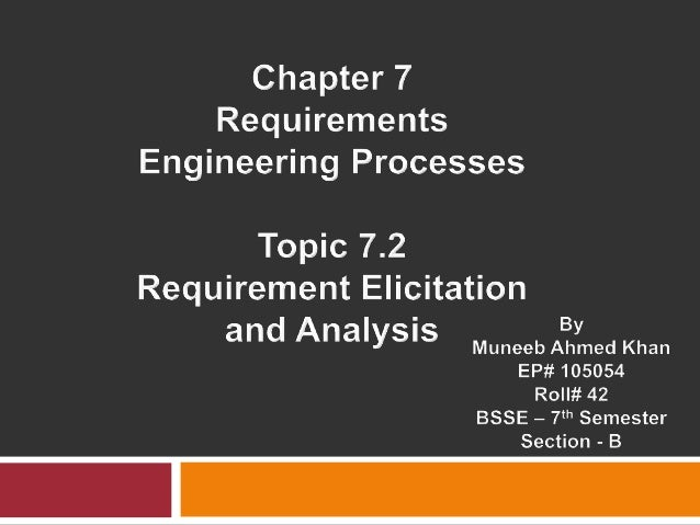Requirement Elicitation 7.2