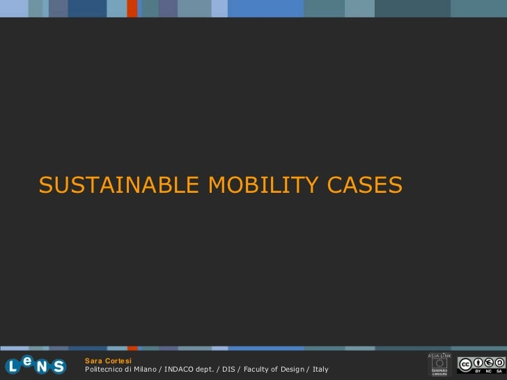 SUSTAINABLE MOBILITY CASES