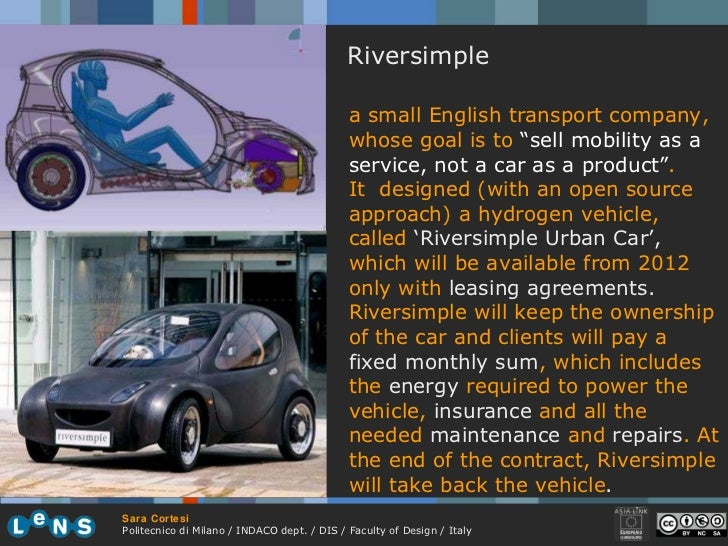 """Riversimple a small English transport company, whose goal is to  """" sell mobility as a service, not a car as a product"""" . I..."""