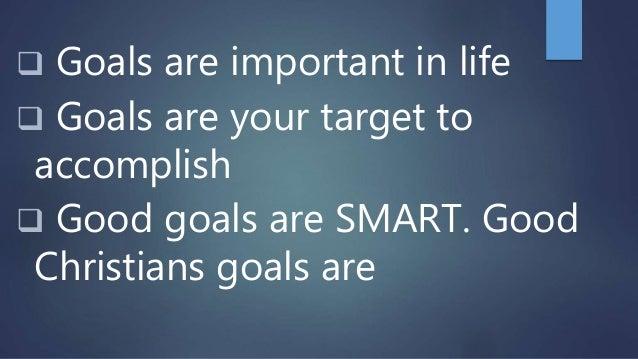 good goals for christians