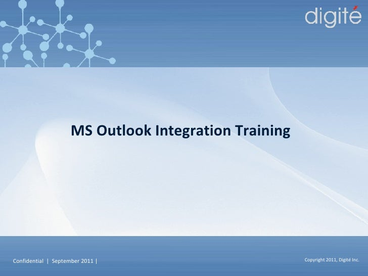 MS Outlook Integration Training