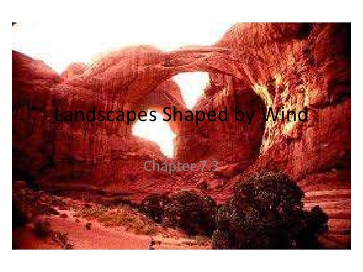 Landscapes Shaped by Wind        Chapter 7.3