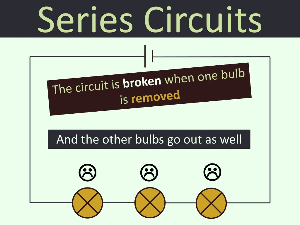 73 Series And Parallel Circuits Bulbs In A Circuit