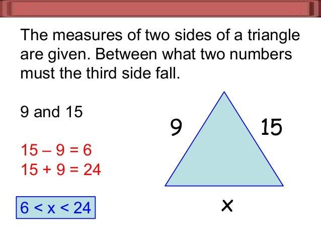 7 3 triangle inequalities - Exterior angle inequality theorem ...