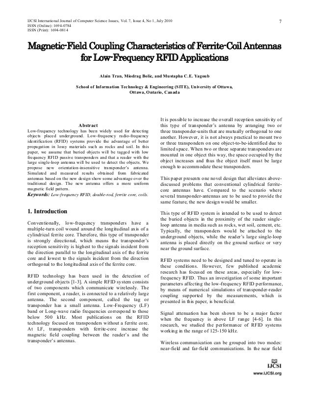 IJCSI International Journal of Computer Science Issues, Vol. 7, Issue 4, No 1, July 2010ISSN (Online): 1694-0784ISSN (Prin...