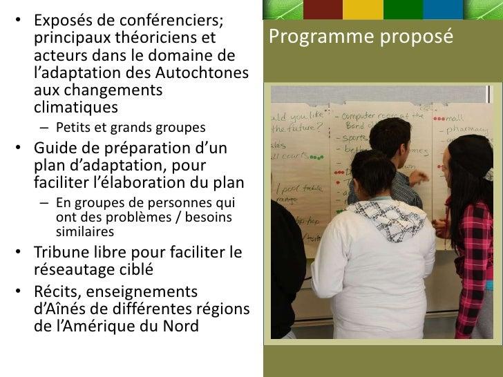 • Exposés de conférenciers;  principaux théoriciens et         Programme proposé  acteurs dans le domaine de  l'adaptation...