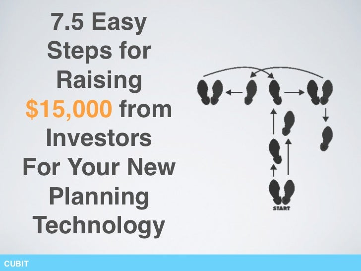 7.5 Easy     Steps for      Raising   $15,000 from     Investors   For Your New     Planning    TechnologyCUBIT