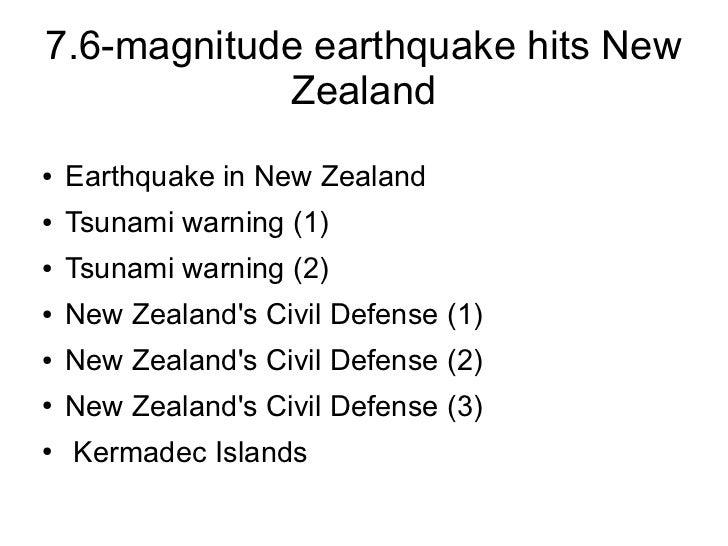 7.6-magnitude earthquake hits New            Zealand●   Earthquake in New Zealand●   Tsunami warning (1)●   Tsunami warnin...