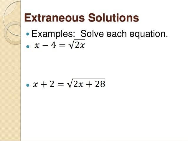 Radical Classroom Design ~ Solving radical equations