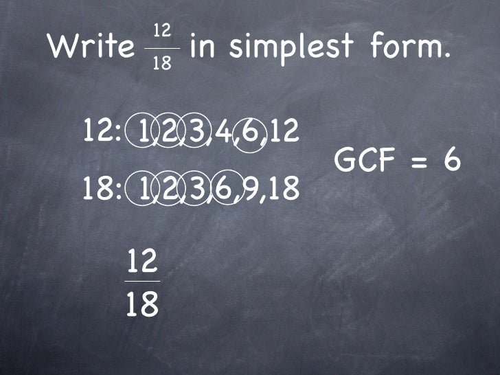 7-8 Fractions and Simplest Form