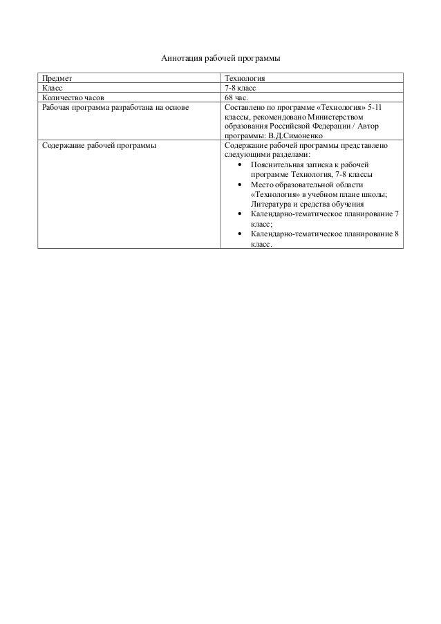 Элементы Материаловедения 7 Класс Учебник