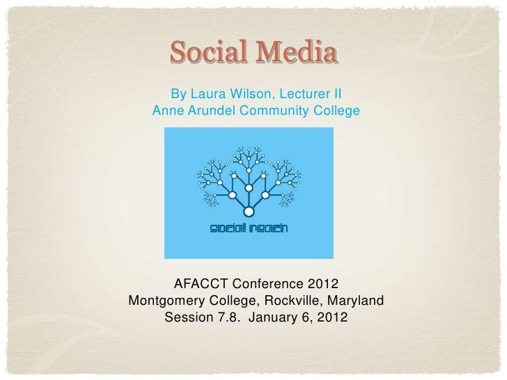Social Media     By Laura Wilson, Lecturer II   Anne Arundel Community College      AFACCT Conference 2012Montgomery Colle...