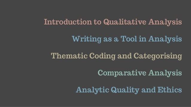 Analysing Qualitative Data Slide 2