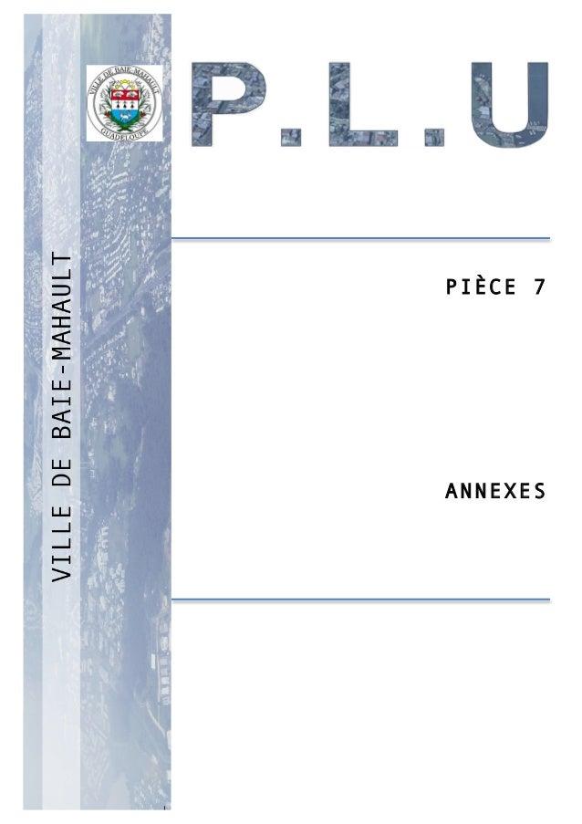 P 1 PIÈCE 7 ANNEXES