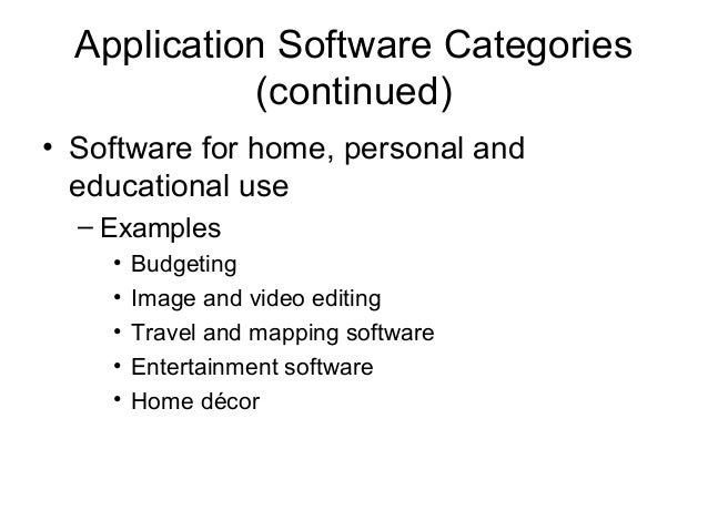 7 application software categories