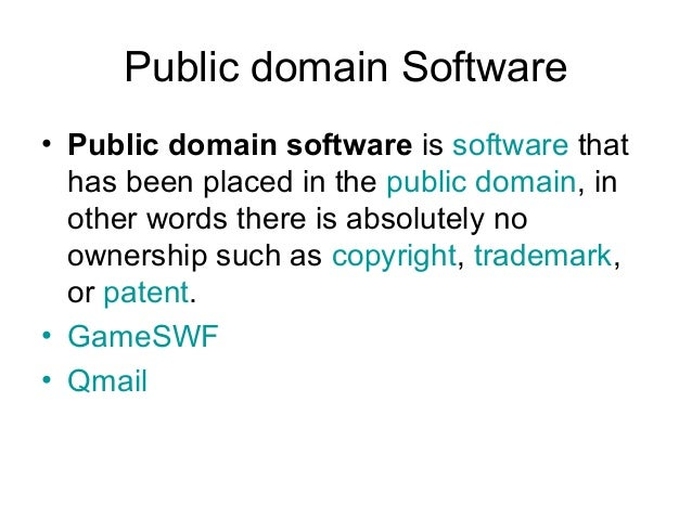 Public Domain Software E  A