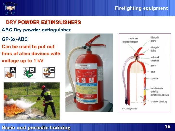 DRY POWDER EXTINGUISHERS   ABC Dry powder extinguisher  GP-6x-ABC   Can be used to put out  fires of alive devices with  v...