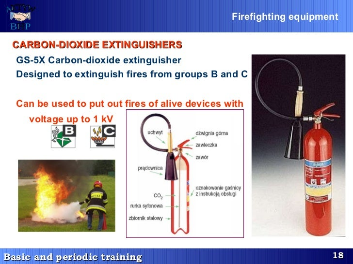 GS-5X Carbon-dioxide extinguisher Designed to extinguish fires from groups B and C   Can be used to put out fires of alive...